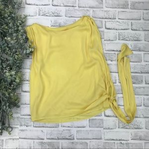 "Alice + Olivia ""Flirty"" Yellow Silk Top"